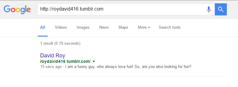 Get index Your Tumblr Blog on Google Quickly