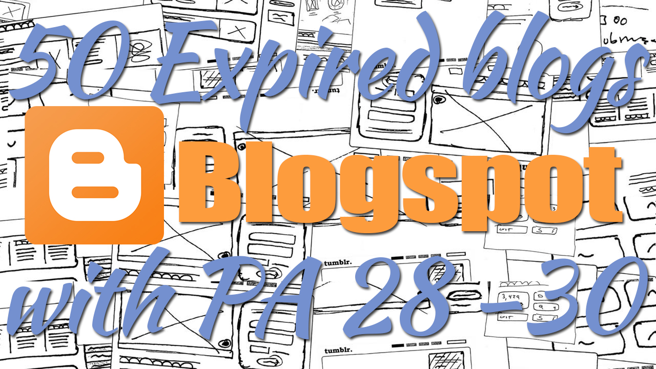 500+ Orders - Provide 20 Expired Blogspot PA 27 and above ...