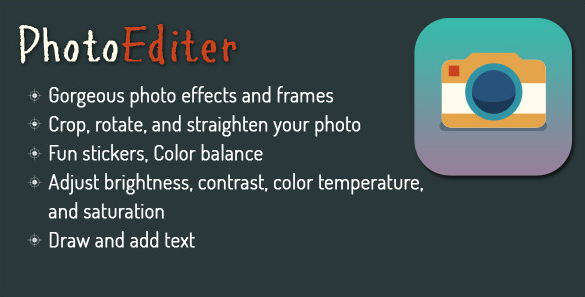 I will give you source code photoeditor for android