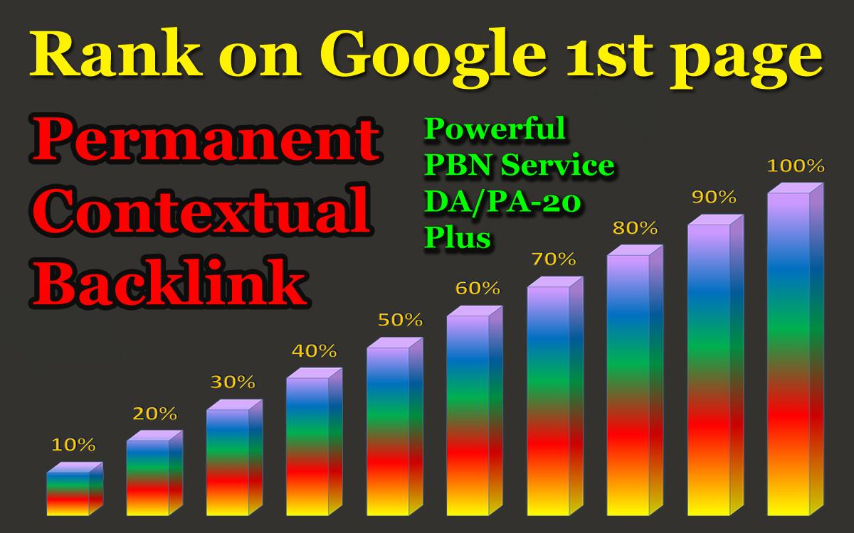 Rank Booster - Powerful PBN Service DA/PA-20 Plus Permanent Contextual Backlink