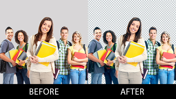 I will remove the background of 15 photos