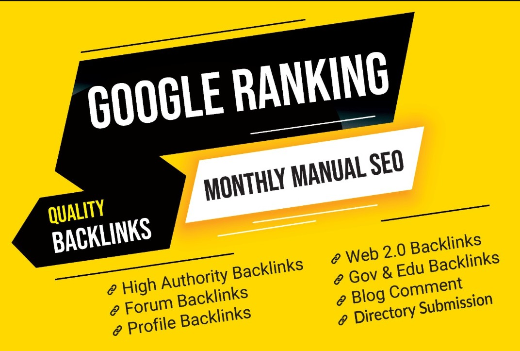 Monthly Manually SEO Google Ranking