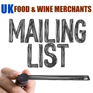 400 REAL UK WINE & FOOD MERCHANTS MAILING LIST WITH MAIL - PHONE - WEBSITE