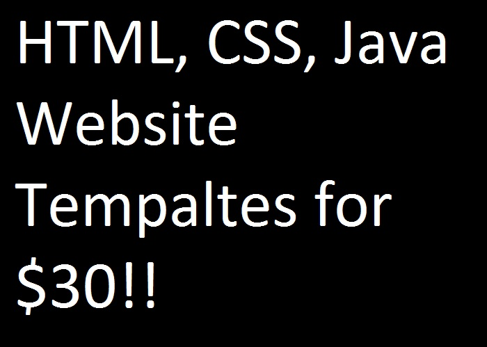 Cheap HTML, CSS, and JS WEBSITE TEMPLATE!!