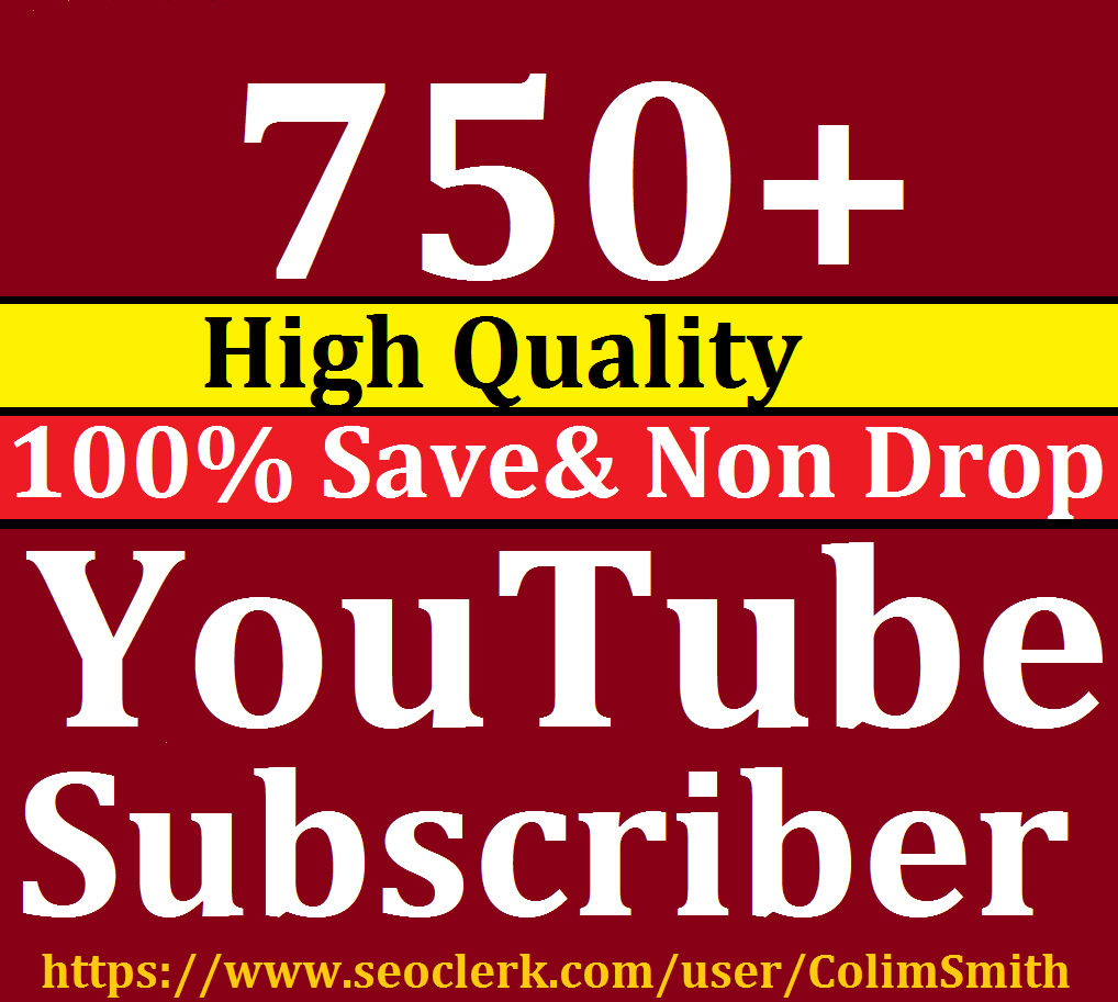 Amazing 750+Youtube Subscribs Super Ultra Speed