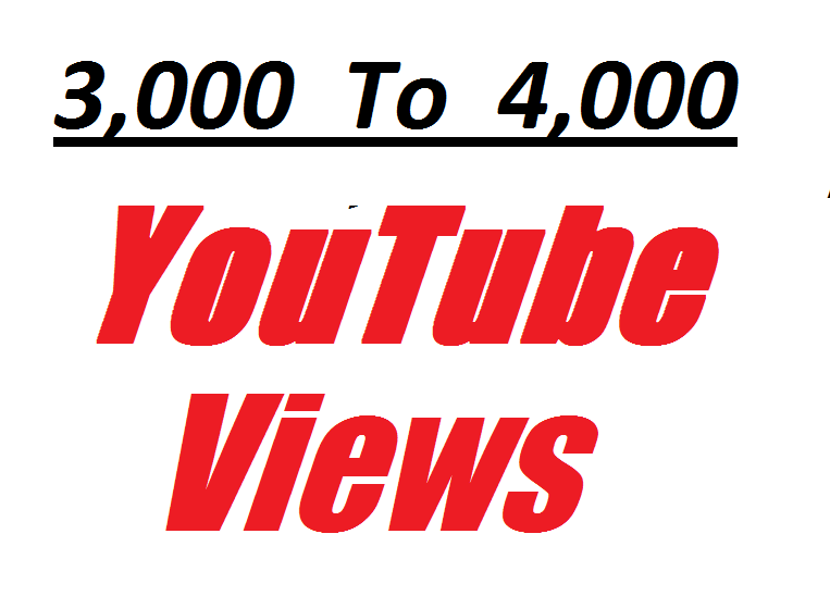 Offer 3,000 To 4,000 non drop and Real Y0UTube Video Vi ews very fast