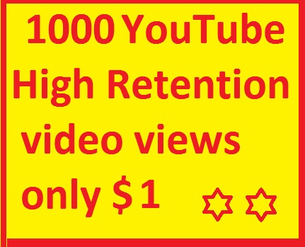 1000-1700 YouTube views 24-72 hours delivery time max only