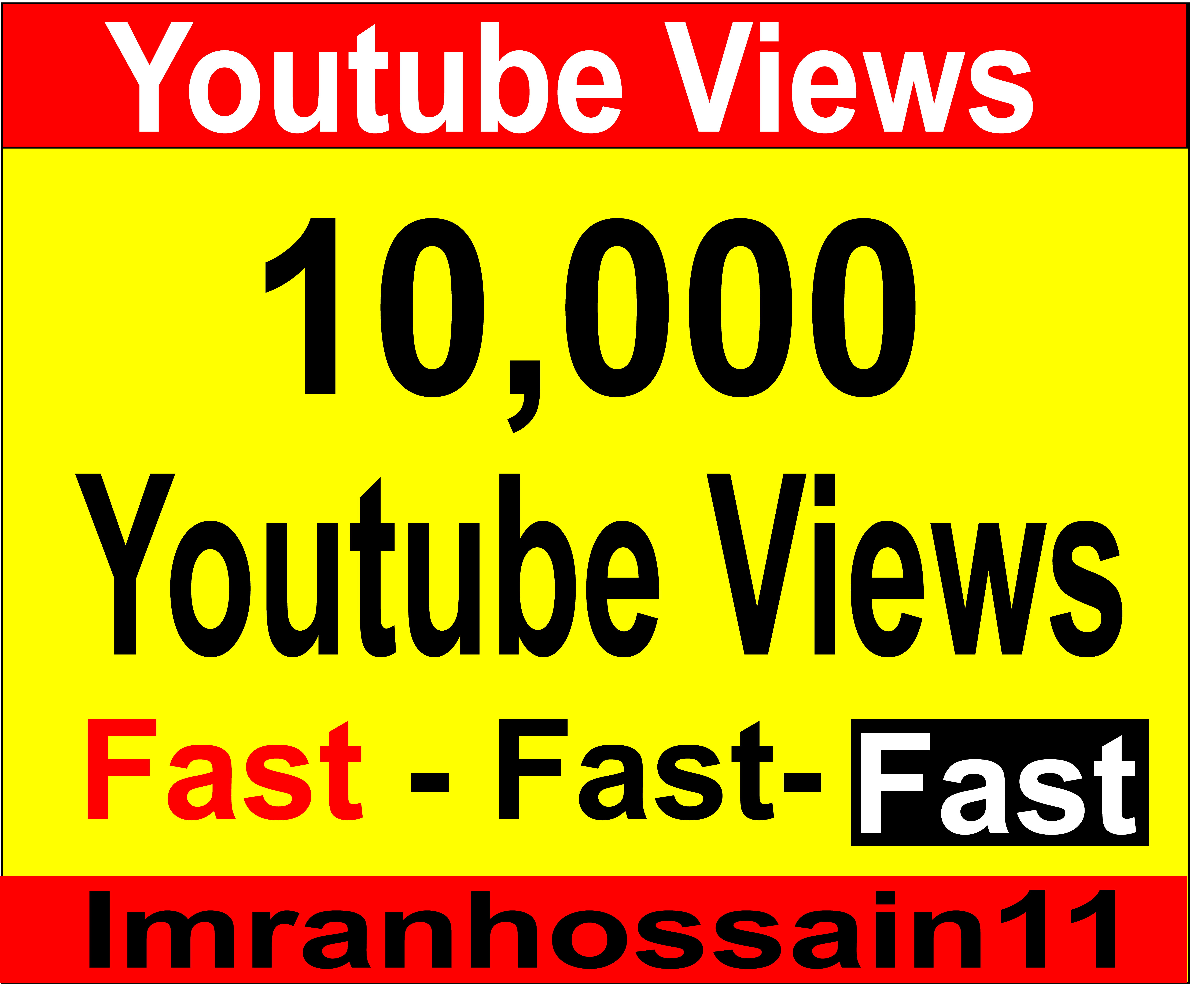 Supper Fast 6,000 to 10,000+ Nondrop HR Adsence Safe Real Youtube Vie ws For your video