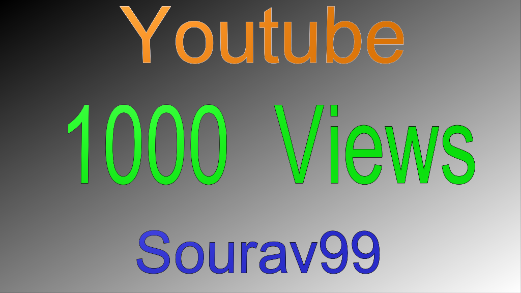 1000 Youtube Views Highest Quality