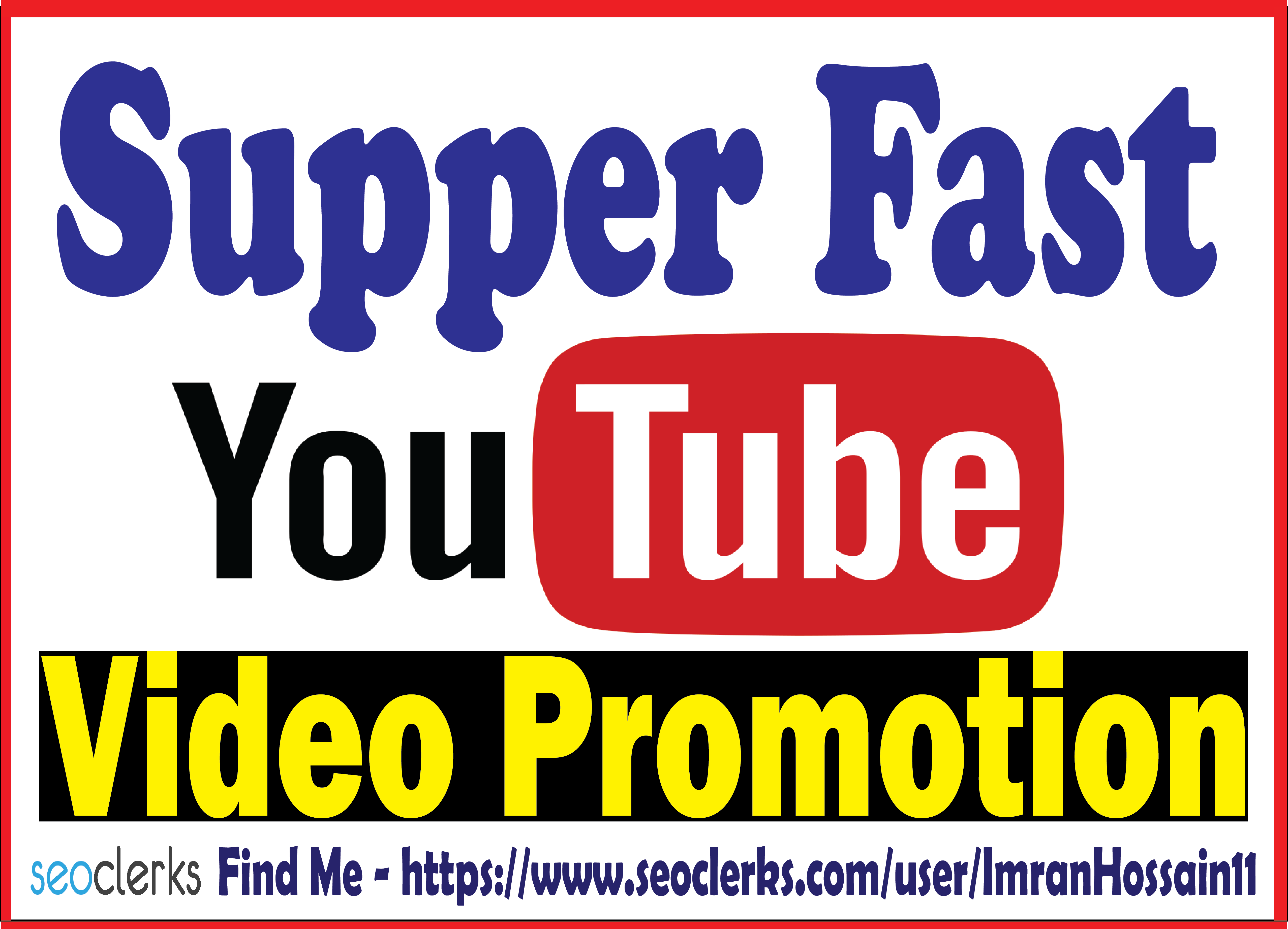 Real & Active Organic Youtube Video Promotion Best and Effective result Guaranteed