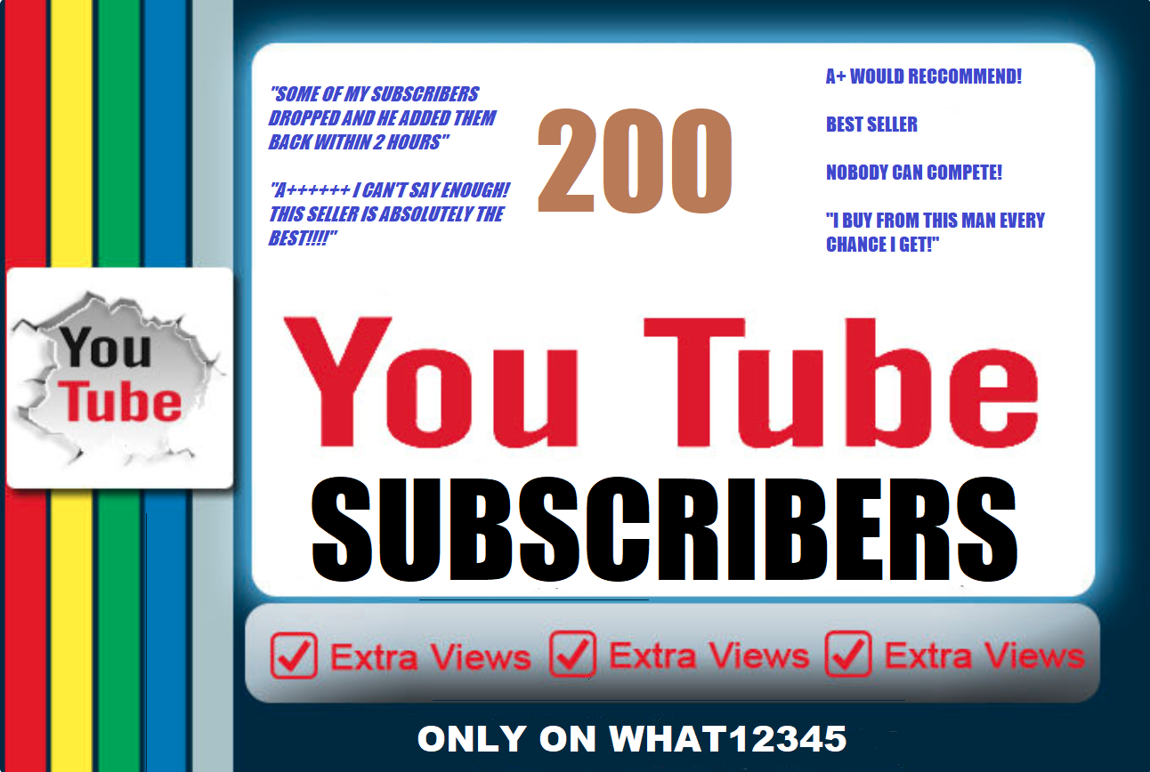200+ High Quality YouTube Subscribers
