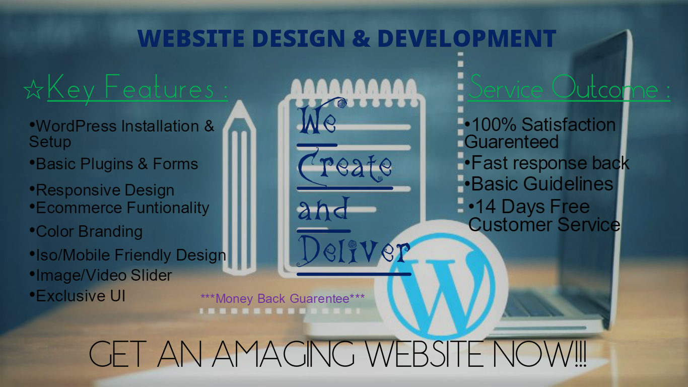 Complete Web Design Package Install+Customize+Design up to 5 Pages