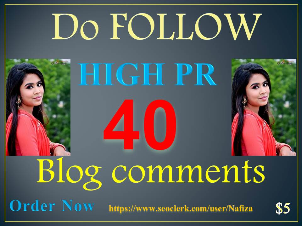 40 Do Follow Blog Comments High pr