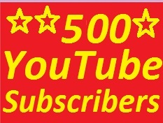Split 500 YouTube subscribers non drop guaranteed