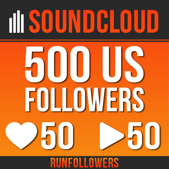 500+ real US SoundCloud followers +50 likes +50 reposts  for