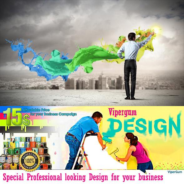 Design Logo Banner Cover for Business