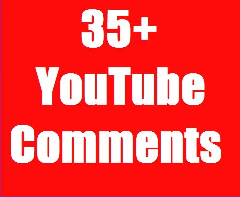 Safe 35+YouTube Custom Comment Non Drop In your Video Link