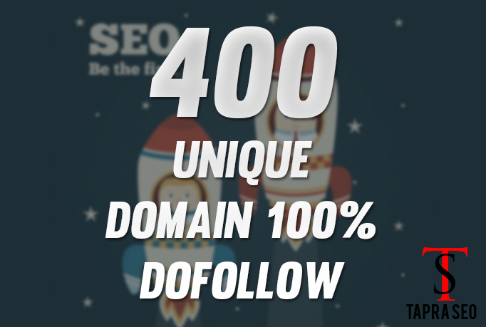 Provide 400 Backlinks 100 percent unique domains dofo...