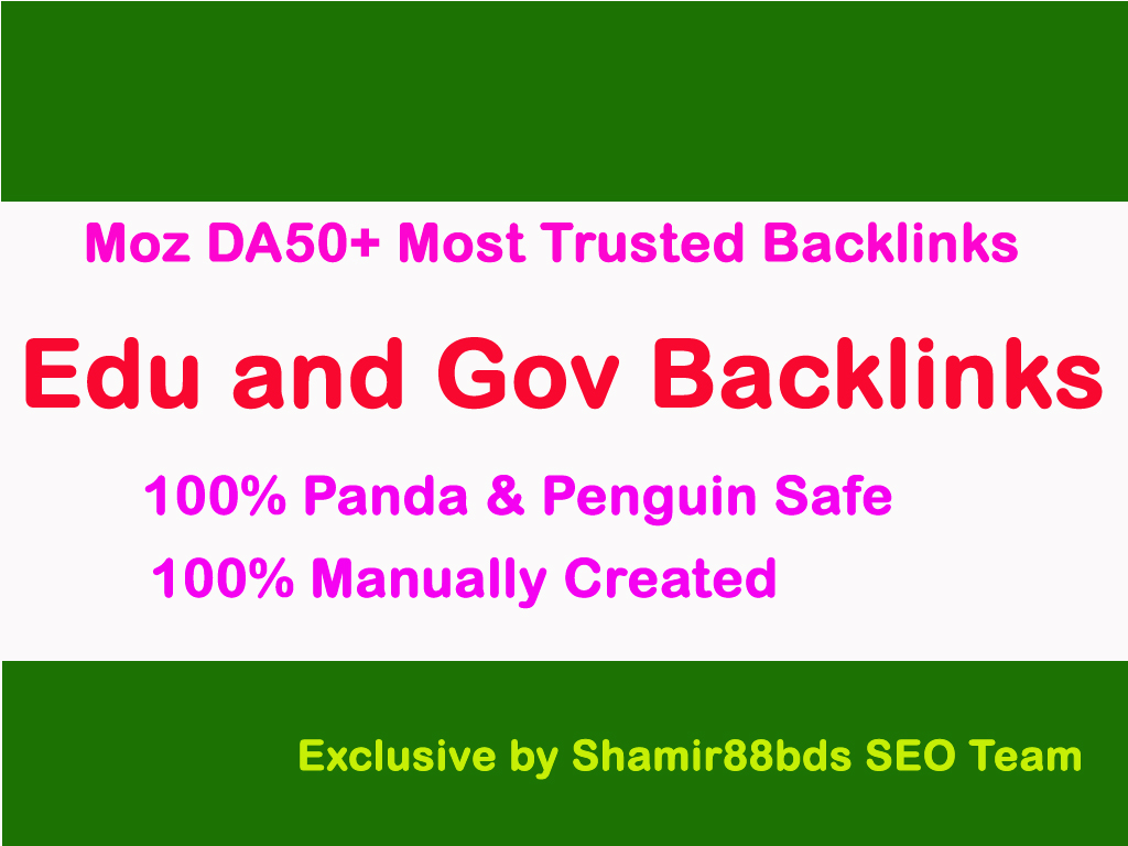 Trusted 25 Edu and Gov Backlinks for Organic Search Rankings DA60-100