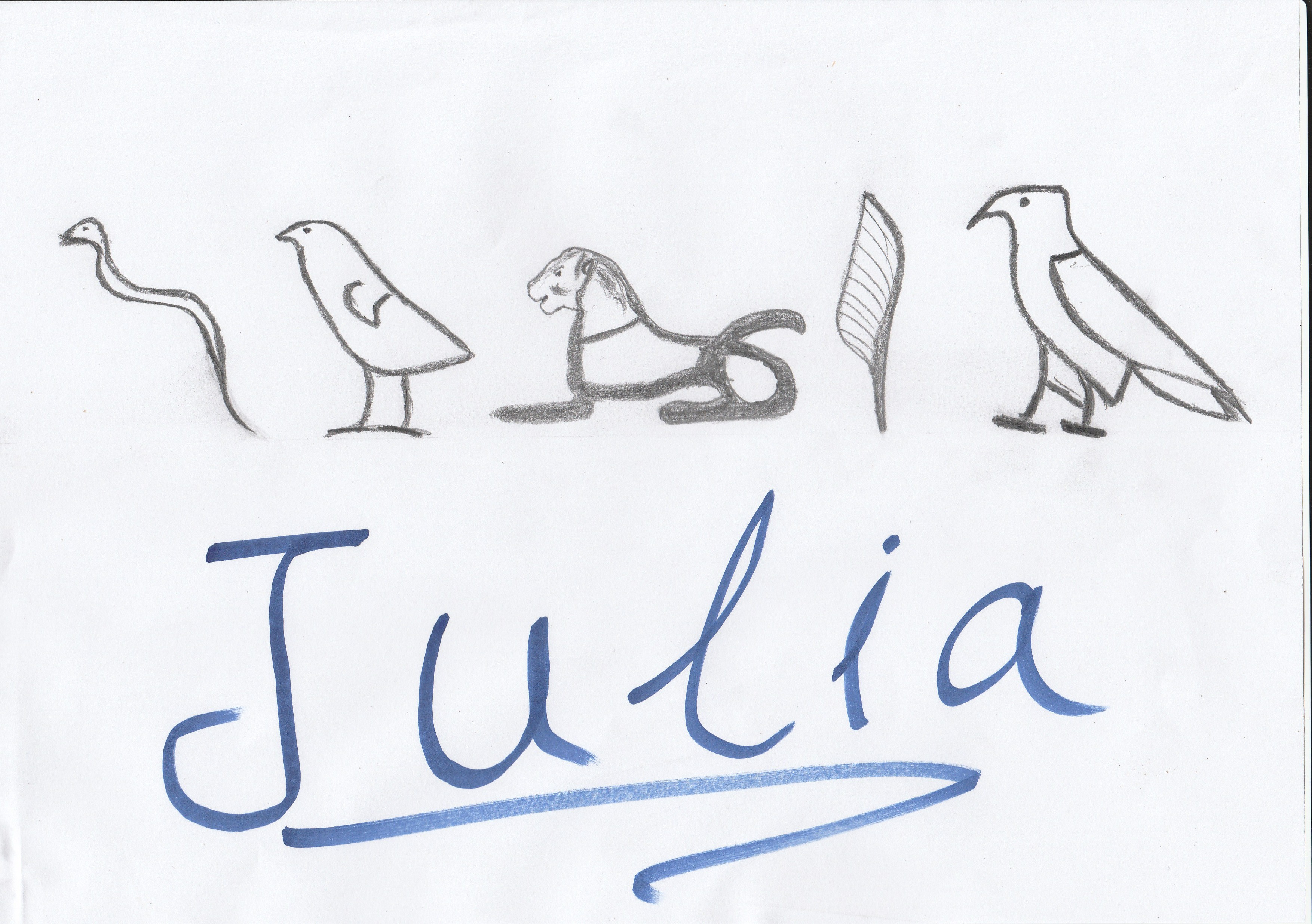 Write your name with hieroglyphic calligraphy for