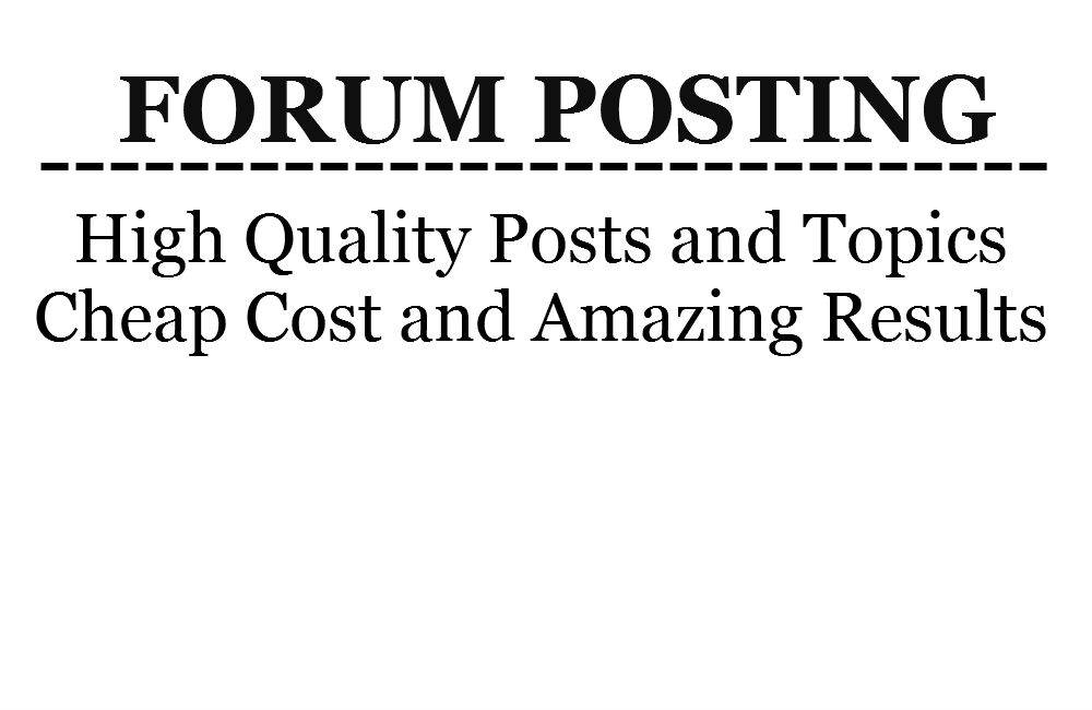 Post 10 quality topics and posts per day for 30 days