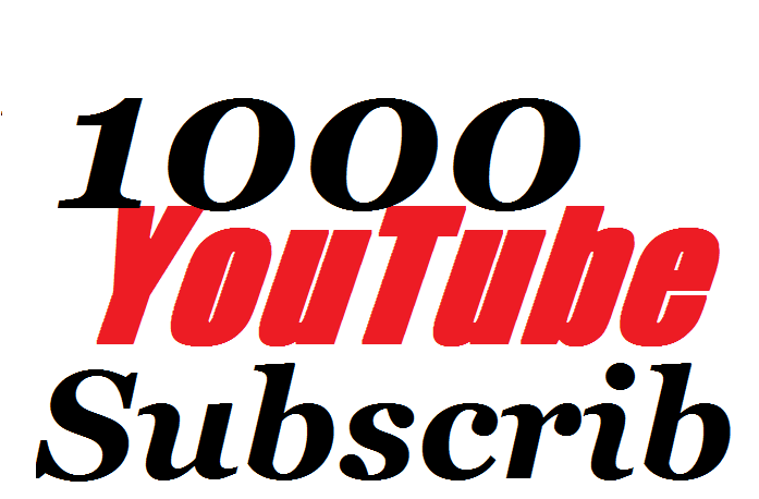 Super offer 1000 YouTube Subscribers To Make Attractive Your Channel Refill Guarantee