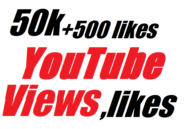 Happy New Year super offer 50,000 views and 500 likes bonus High Quality real YouTube views and likes very fast