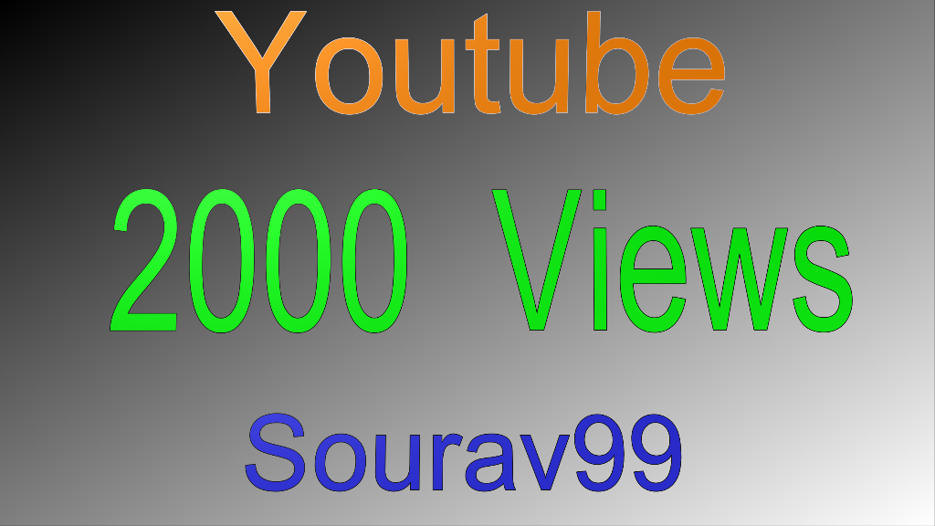 2000 Youtube Views on your video