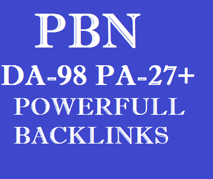 20 PBN DoFollow Links - Niche Links DA-98,  PA-27+
