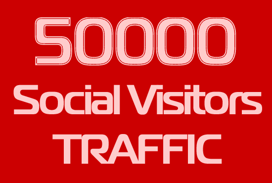 50000 Real Social Visitors Traffic to Website
