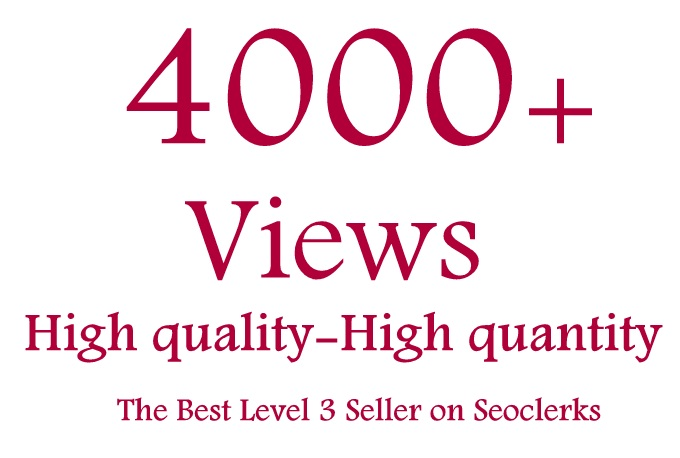 Get 3000 To 4000 High Retension and safe Guarantee video views