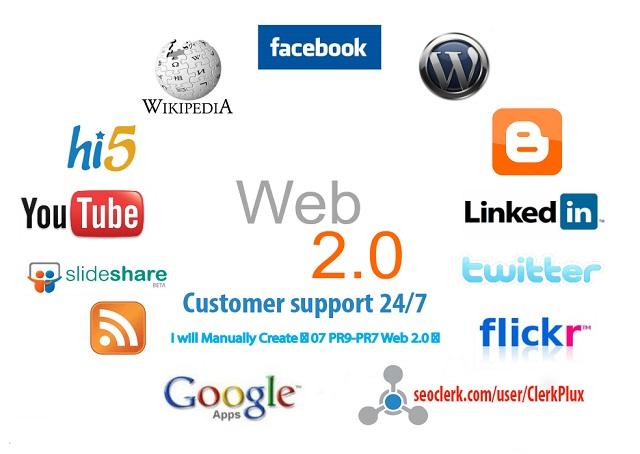 I Will Create Manually 10 High Authority Web2.0 and 500 SEO Backlinks