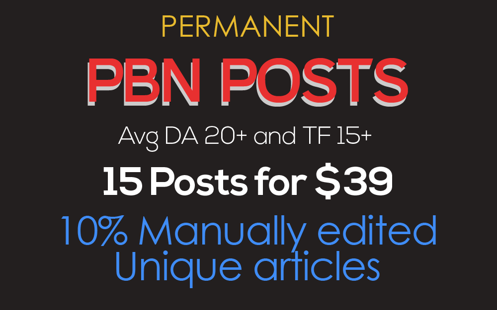 PERMANENT PBN POSTS Avg DA 20+ and TF 15+