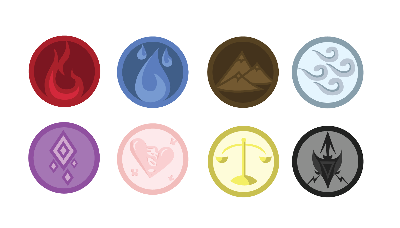 Will Create 5 Custom Icons,  Buttons,  or Badges