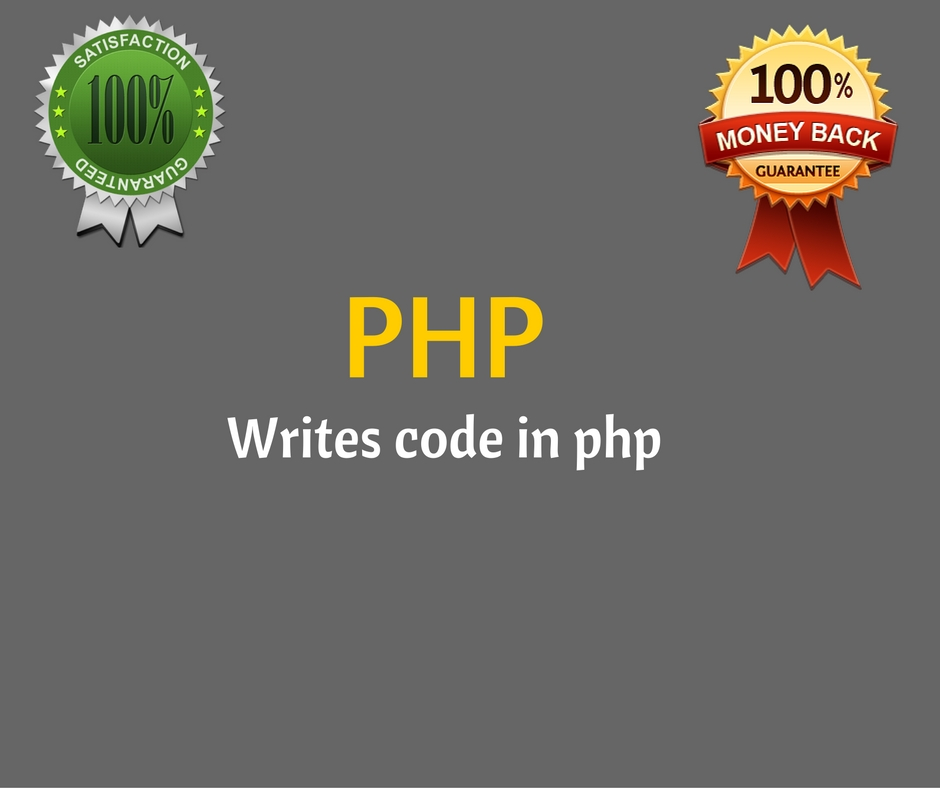 do backend coding in php