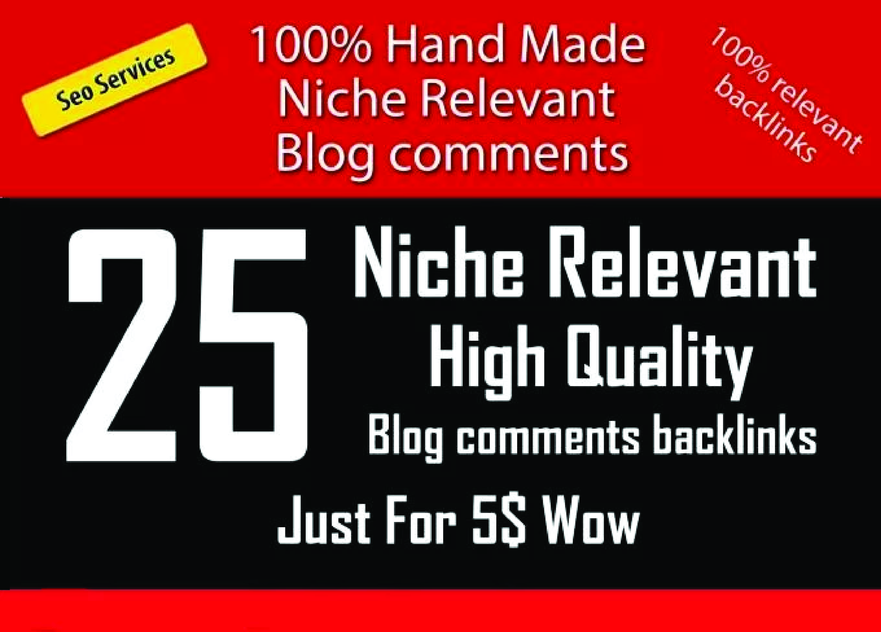 Do HQ 25 Niche Relevant Blog Comments