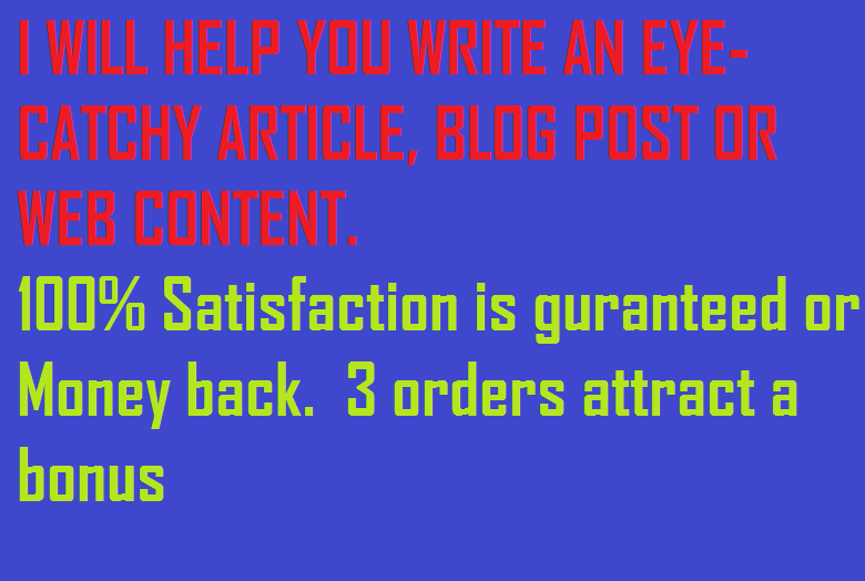 article and blog writng