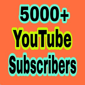 5000+ You Tube  Chanel Subs cribers non drop very fast completed