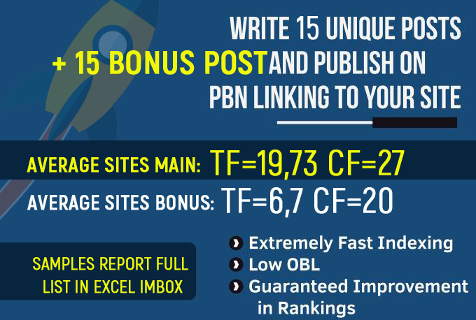 create 30 Permanent PBN Posts on High Trust flow domains
