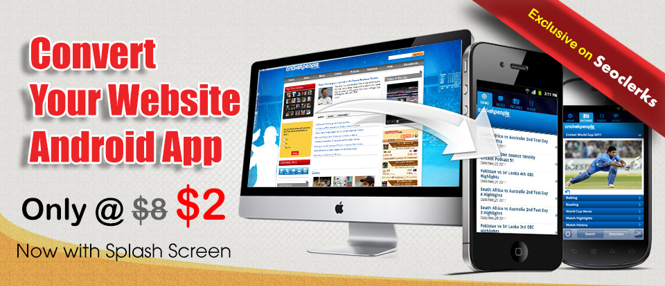 Android Application for your website no our branding