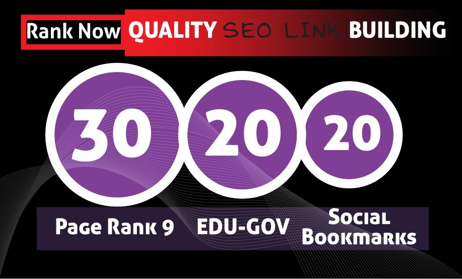 Manually Create 30 PR9 + 20 EDU- GOV + 20 HIGH PR SOCIAL BOOKMARKS
