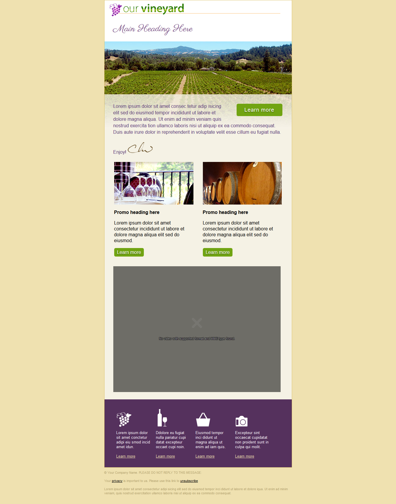 Get Responsive Editable HTML Email Template For SEOClerks - Email ad template
