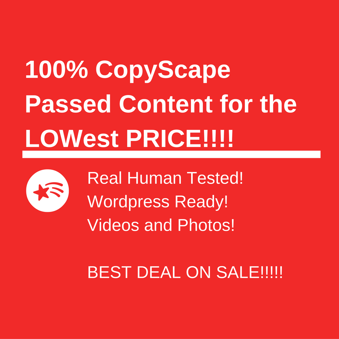 10 100 Copyscape passed Articles
