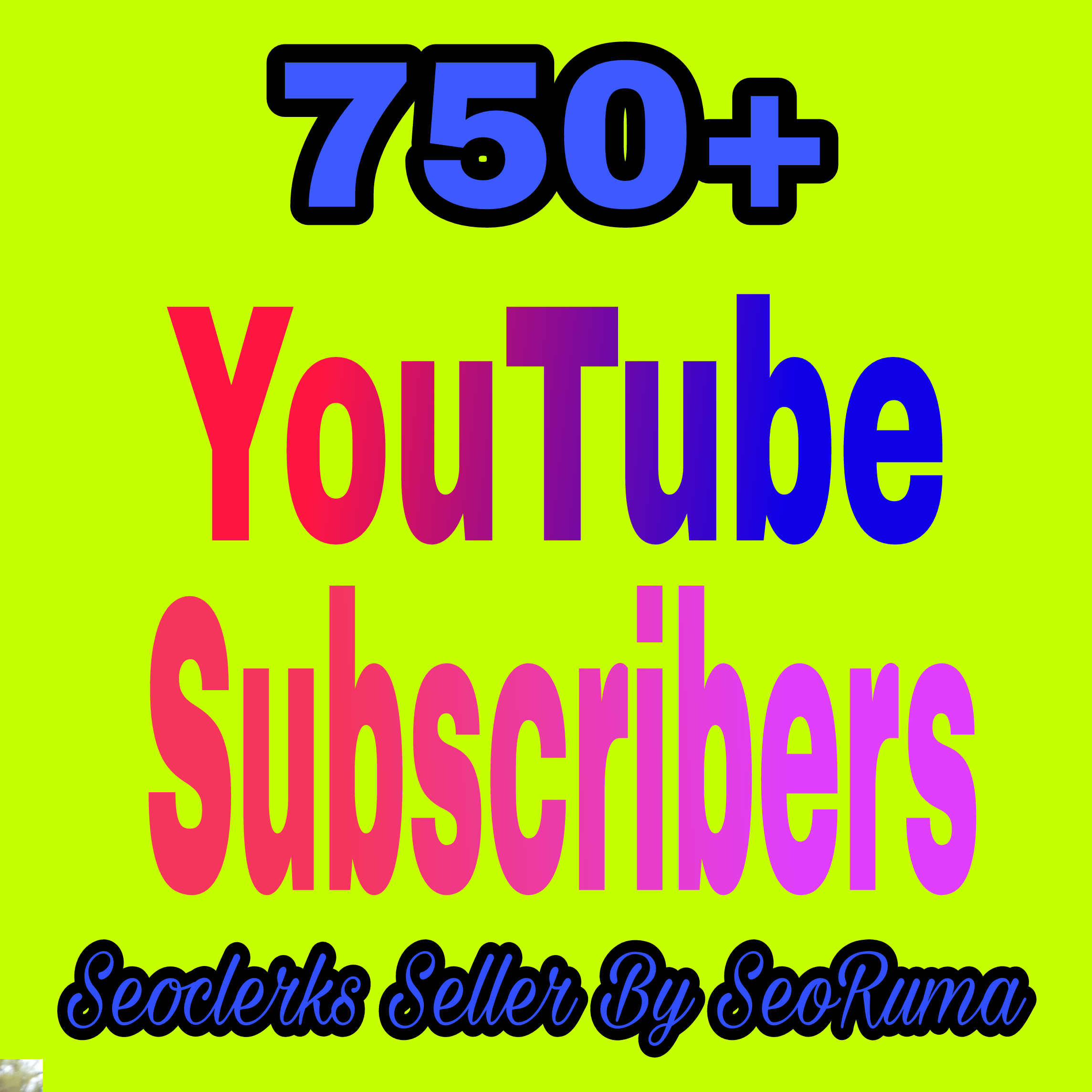 750+ YouTube Chanel subs cribers non drop very fast completed