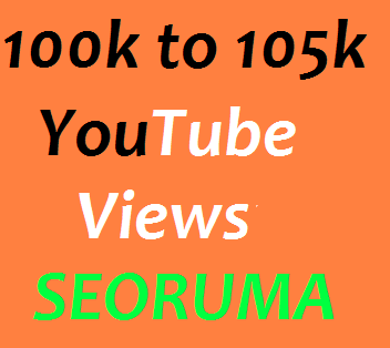 Safe 100000 to 106000 High quality YouTube views Very Fast in 5-7 Days complete just