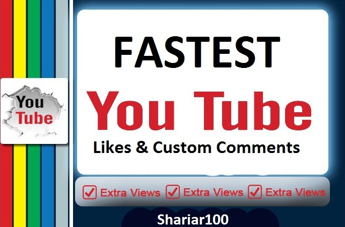 Super fast Delivery 600+ You+tube video likes and 5 video custom comment