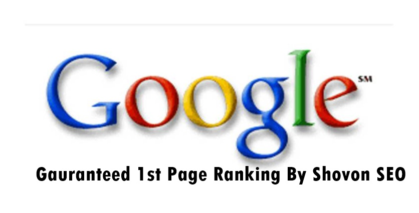 Offer guaranteed google 1st page ranking SEO packages