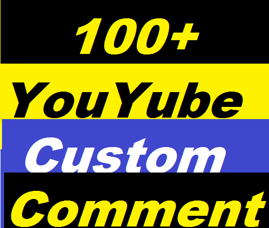 100+ YouTube Custom Comments Or 600+ YouTube Likes Or 150+ YouTube Subscribers Give You