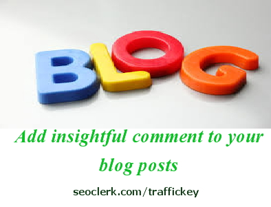 write an insightful comment to 3 blog posts