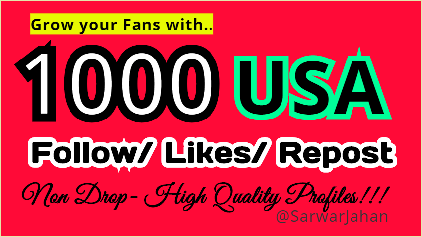 Grow your Fans with 1000 High Quality Music LOVING People